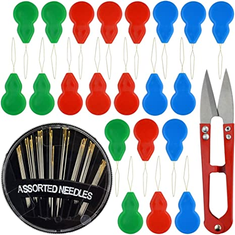 Shopready Needle Threaders Hand Sewing Kit 20 Pieces Sewing Needle Threaders for Cross Stitch Embroidery