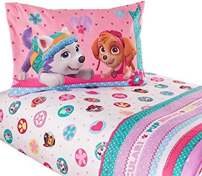 Nickelodeon Paw Patrol - Juego de sábanas para niñas