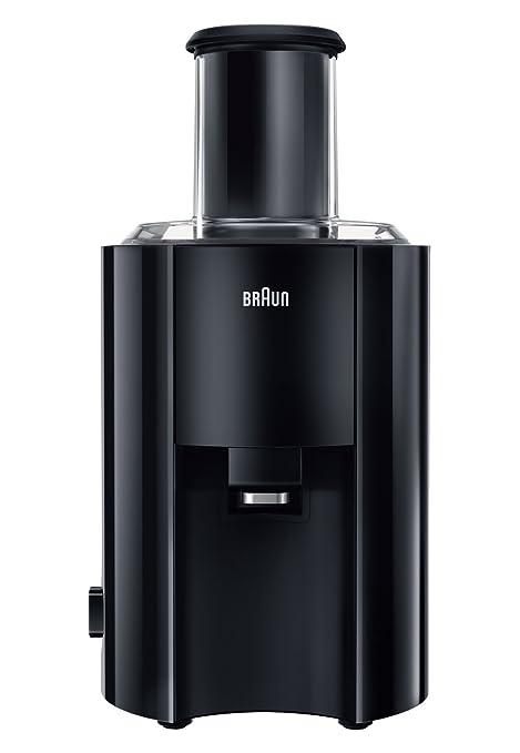Braun J 300 - Exprimidor (800W, Acero inoxidable, De plástico, Negro)