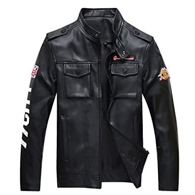 Motorcycle Moto Leather Jacket Men Mens Air Force Military Tactical Leather Jacket Male Faux Biker Leather