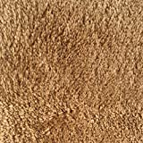 Mohawk Home Cut To Fit Royal Velvet Plush Bath Carpet, Pure Gold, 6 by 10 Feet