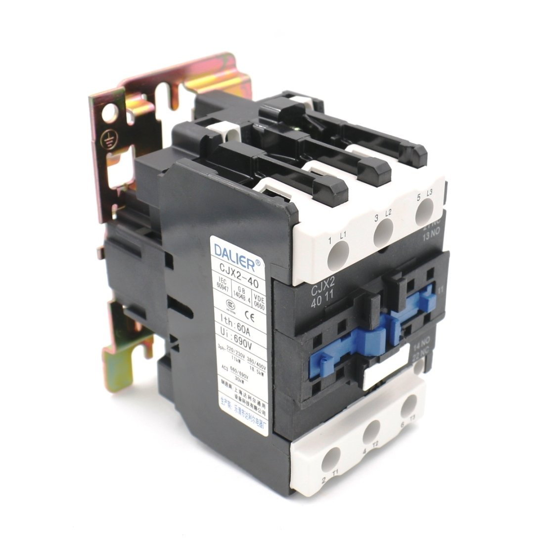 Baomain Cjx2 4011 220v 50 60hz Ac Contactor 40amp 3 Phase Pole No Harga Relay Nc Industrial Scientific