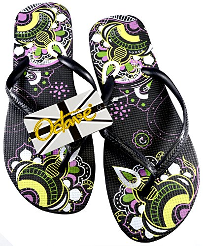Mandala Infradito Black Design donna Octave qzwEn7RpqP