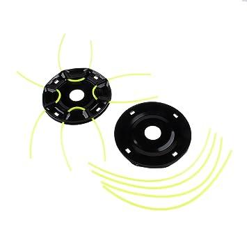 Desbrozadora (metal recortador cabeza con 4 líneas recortador Hierro Hierba – Cabezal roscador