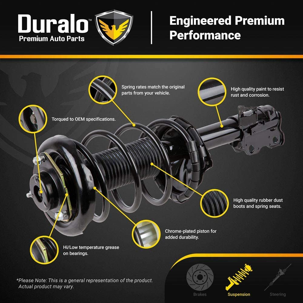 New Duralo Front Complete Strut /& Spring Assembly For Toyota RAV4 2006 2007 2008 Duralo 1192-1235 New
