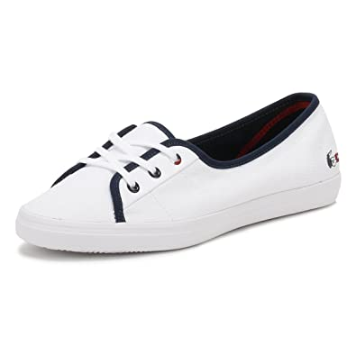 b7c893c58 Lacoste Womens White Ziane Chunky 317 1 Trainers  Amazon.co.uk  Shoes   Bags