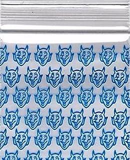1000-2' x 2' Devil Design Plastic Ziplock Baggies