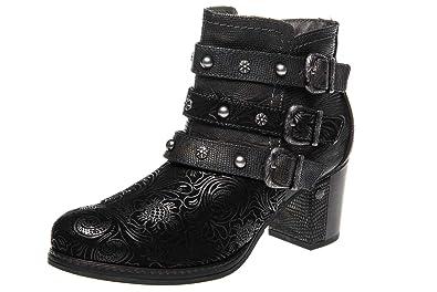 Damenstiefel schwarz Übergröße 44 Kyki Schuhe
