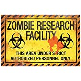 Zombie Research Factory Metal Sign Halloween Decoration