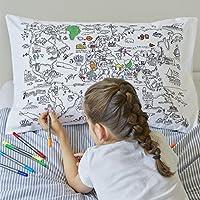 Doodle World Map Pillowcase, Color Your Own Pillow Case,...