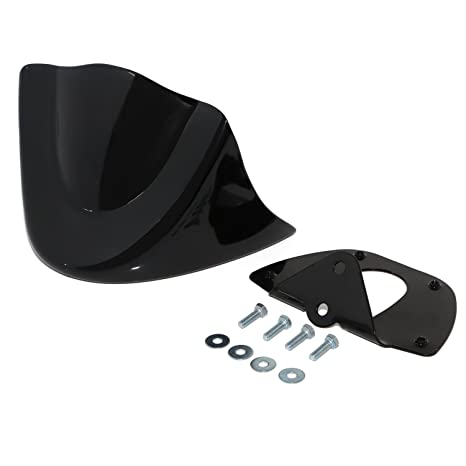 Senkauto Front Chin Spoiler Air Dam Fairing Cover Mounting Bracket for  Harley Dyna StreetBob FatBob Wide Glide 1999-2017 (2006-2017, Vivid Black)