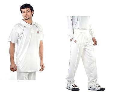 425fa7bf0761 C W Cricket World Men Boys Youth Matrix White Dryfit Uniform Dress Complete  Suit Sports