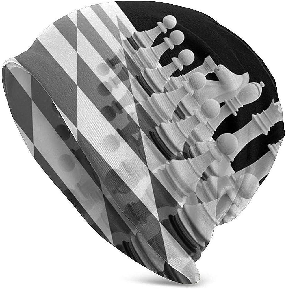 Gorros Unisex Beanie International Chess Piece Tablero de ajedrez Impreso Slouch Skull Cap Hip-Hop Hat Sombreros de Punto para Mujeres Hombres