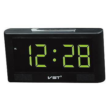 perfeclan Reloj Digital Despertador de Sobremesa con Gran Pantalla LED Regalo de Cumpleaños Familiares Amigos - Amarillo: Amazon.es: Hogar