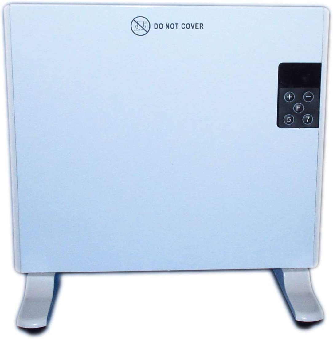 Aironic 400W Deluxe Electric Panel Heater Radiator, Wall Mounted or Free Standing with Thermostat & Digital Timer