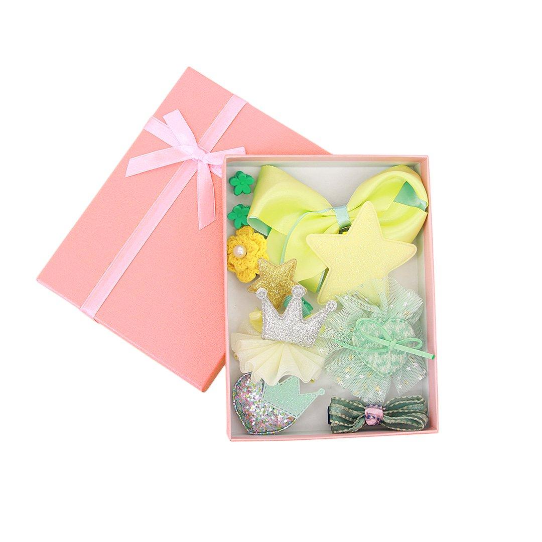 Gabrine Multicolored Cartoon Hair Clips Hairpins Headwears Set for Little Girls Babies