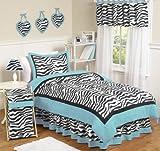 Sweet Jojo Designs 3-Piece Turquoise Funky Zebra Children's and Teen Full/Queen Girls Bedding Set