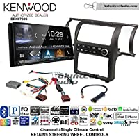Volunteer Audio Kenwood DDX9704S Double Din Radio Install Kit with Apple Carplay Android Auto Fits 2003-2004 Infiniti G35 (Charcoal) (Single zone A/C controls)