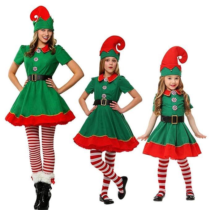 Wetry Disfraz de Navidad Conjunto de Duende Elfo Cosplay ...