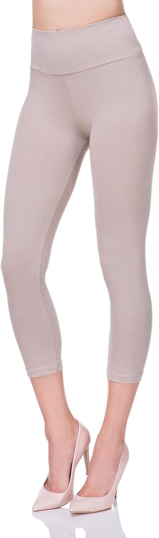 a Vita Alta Ideali per Lo Sport FUTURO FASHION/® LWP34 Leggings a 3//4 in Cotone con Fascia Contenitiva