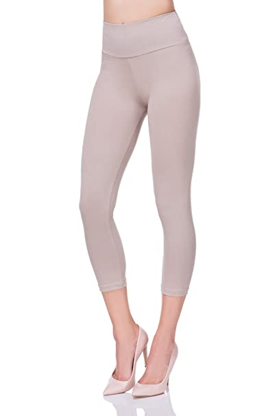FUTURO FASHION Kurz geschnittene 3 4 lange Leggings mit hoher Taille mit  Active Pants LWP34  Amazon.de  Bekleidung 41eb802d9a