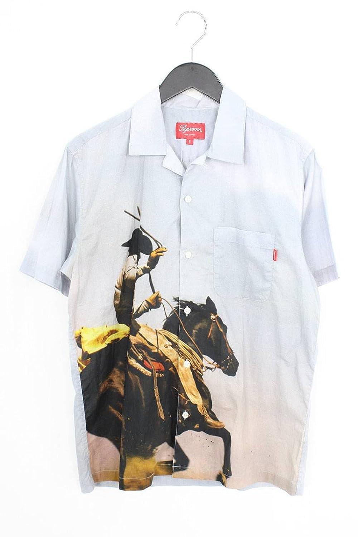 (シュプリーム) SUPREME 【17SS】【Cowboy Shirt】カウボーイプリント半袖シャツ(S/ライトグレー) 中古 B07FP9G5JT  -