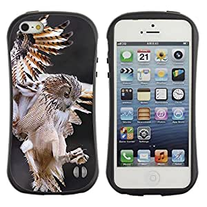 Suave TPU GEL Carcasa Funda Silicona Blando Estuche Caso de protección (para) Apple Iphone 5 / 5S / CECELL Phone case / / owl hunt flight predator nature animal /