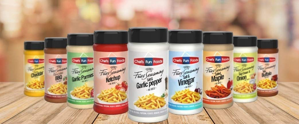Chef's Fun Foods - Gourmet Food Seasonings | Kosher Food for Restaurants and Home Cooks | No MSG or Fillers | Great for Fried Foods, BBQ, Chicken Wings & More | Variety Pack