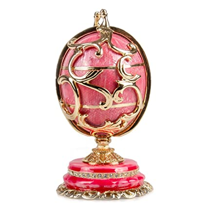 502f237cb5482 Amazon.com: Swarovski Crystals Faberge Egg: Ornament with Floral ...