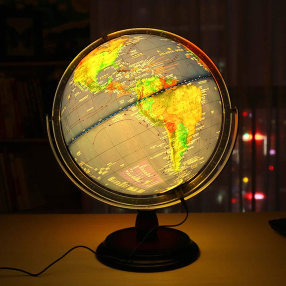 Globus Beleuchtet Globen WeltKugel für Kinder Halloween, Business & Geburtstag Geschenke, Wohnkultur Büro Dekoration - Blau - 12 Zoll