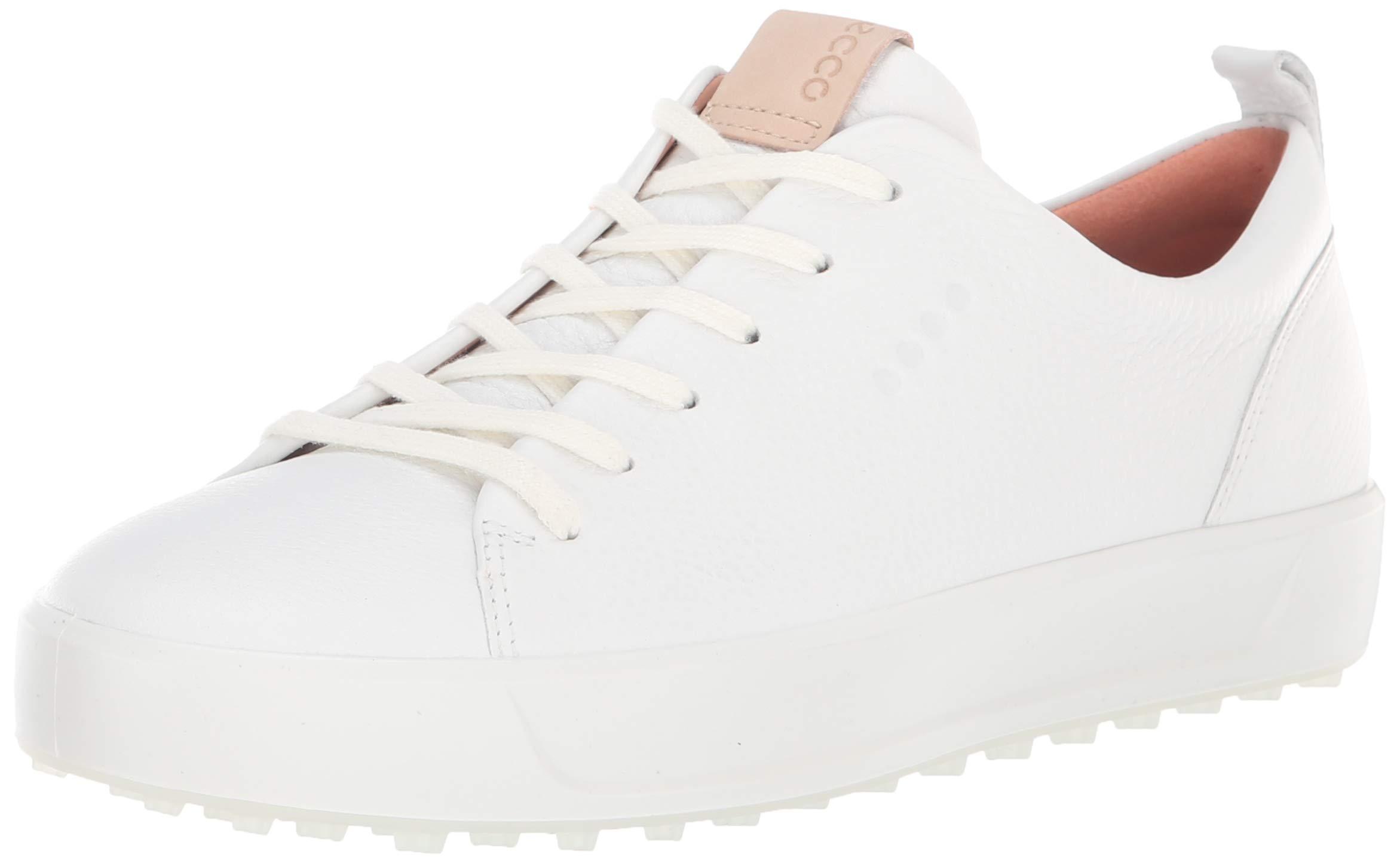 ECCO Women's Soft Low Hydromax Golf Shoe, Bright White, 8 M US by ECCO