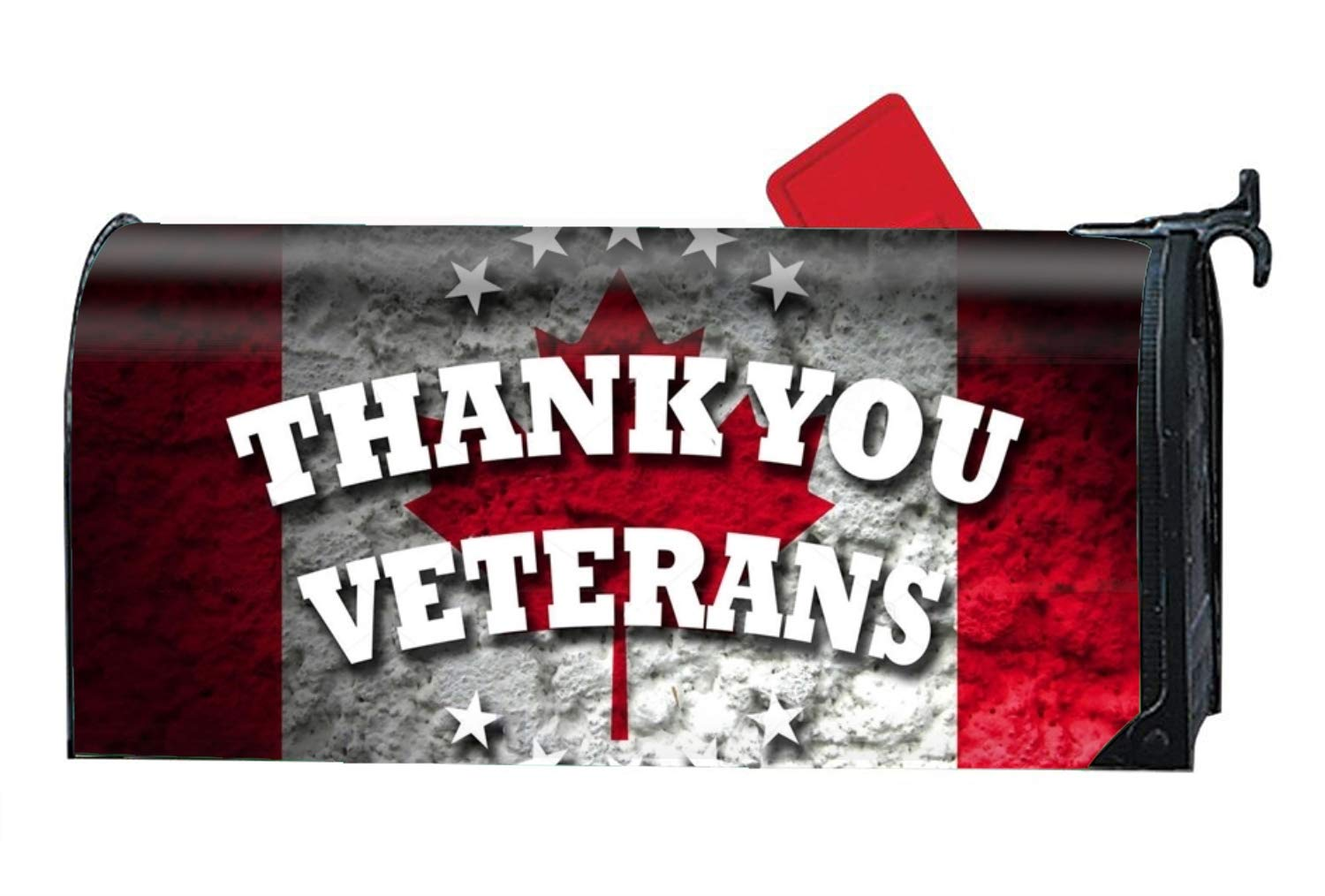 WilBstrn Magnetic Mailbox Cover - Thank You Veterans for Remembrance Day Themed,Decorative Mailbox Wrap for Standard Size