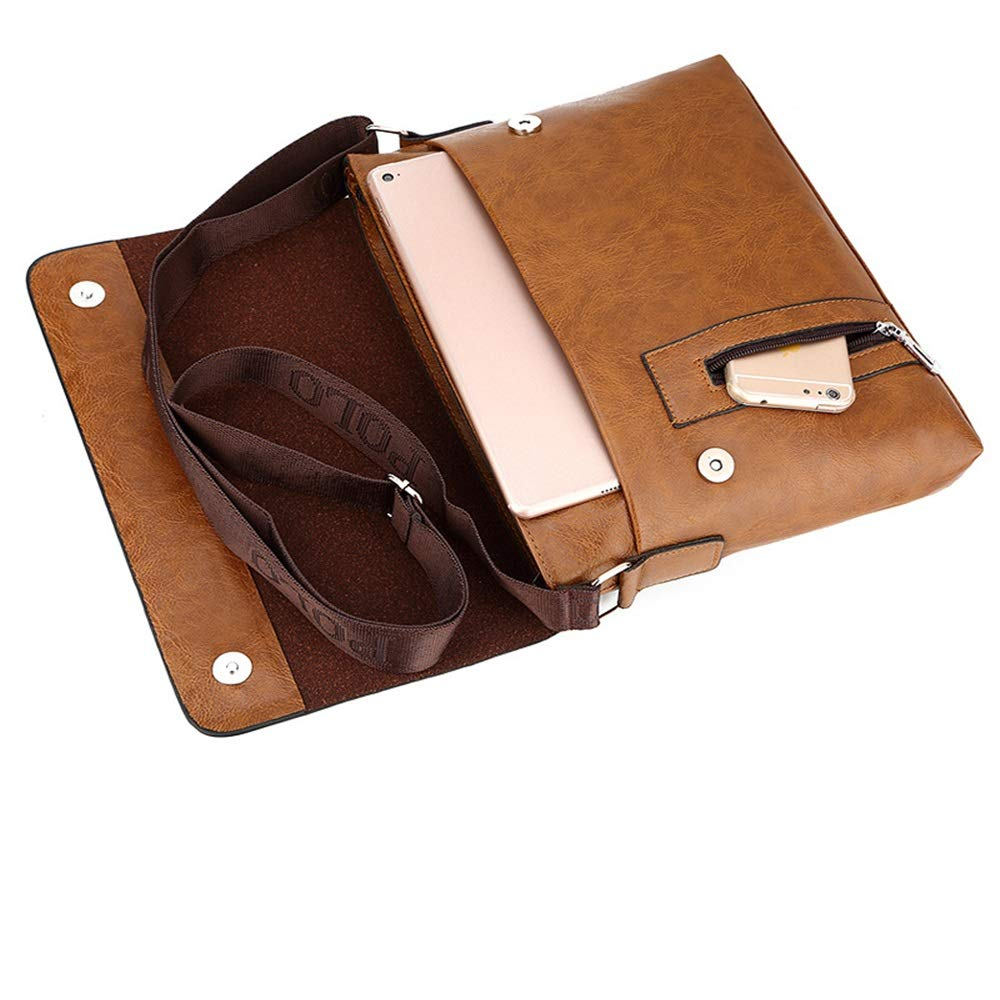 GLJJQMY Mens Shoulder Bag Mens Bag Casual Slung Vertical Business Mens Bag Color : Brass Fashion Package Briefcase