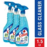 Colin Glass and Surface Cleaner with Shine Boosters Spray, Regular - 500ml (Pack of 3)