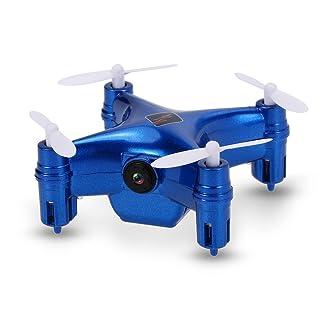 Goolsky WLtoys Q343 Mini Drone con Cámara 0.3 MP WiFi FPV RC Quadcopter con barómetro Mantenimiento de Altura Drone Controlado por Móvil Inteligente