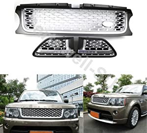 YiXi-Partswell 3 Pcs Front Grille Side Vent Mesh Grill Bar Trim Fits for Range Rover Sport 2010-2013