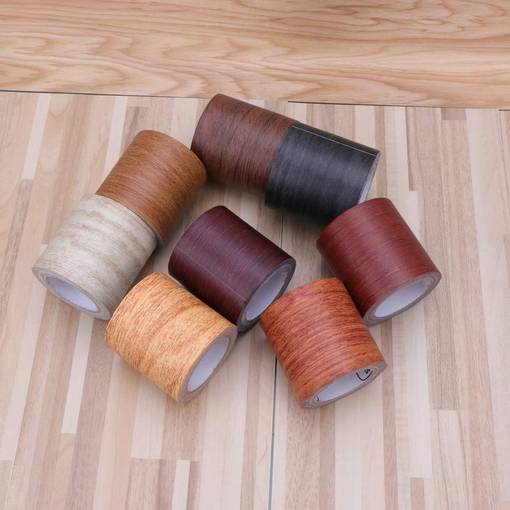 Roll Cinta Adhesiva Realista para reparaci/ón de Vetas de Madera 8 Colores para Cinta de reparaci/ón de Muebles smallJUN 5M