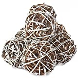 Factory Direct Craft Group of 7 Hand Crafted Frosted White Grapevine Twig Balls