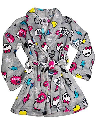 Monster High - Little Girls Microfleece Robe, Grey 37798-4/5 - Names Of Monster High
