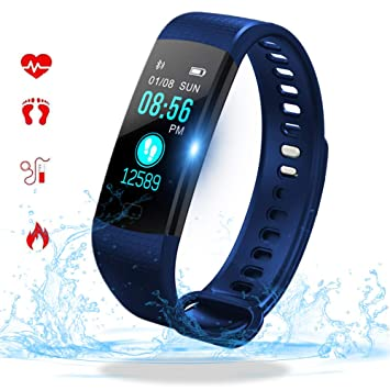 Fitness Tracker con Monitor de Ritmo cardíaco Bluetooth Smartwatch ...