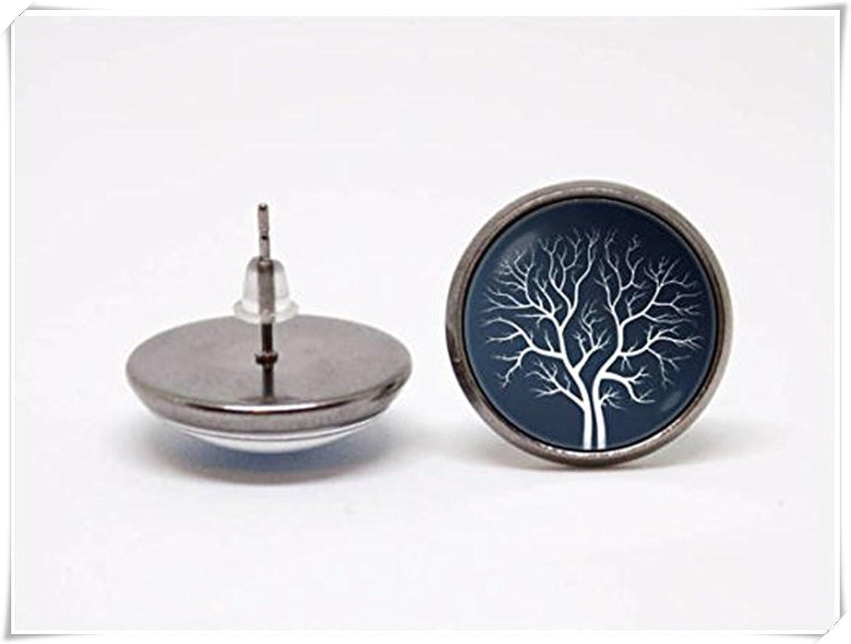 Árbol de la vida pendientes de árbol de joyas con familia joyas naturaleza