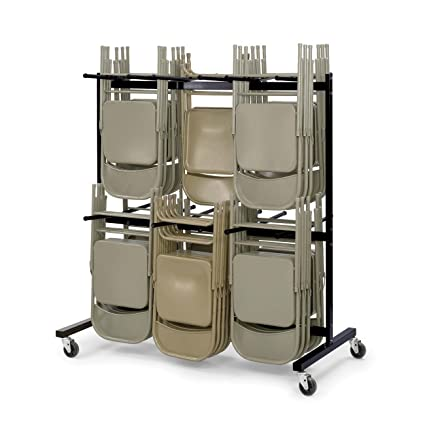 Amazoncom Safco Products Two Tier Folding Chair Cart 4199