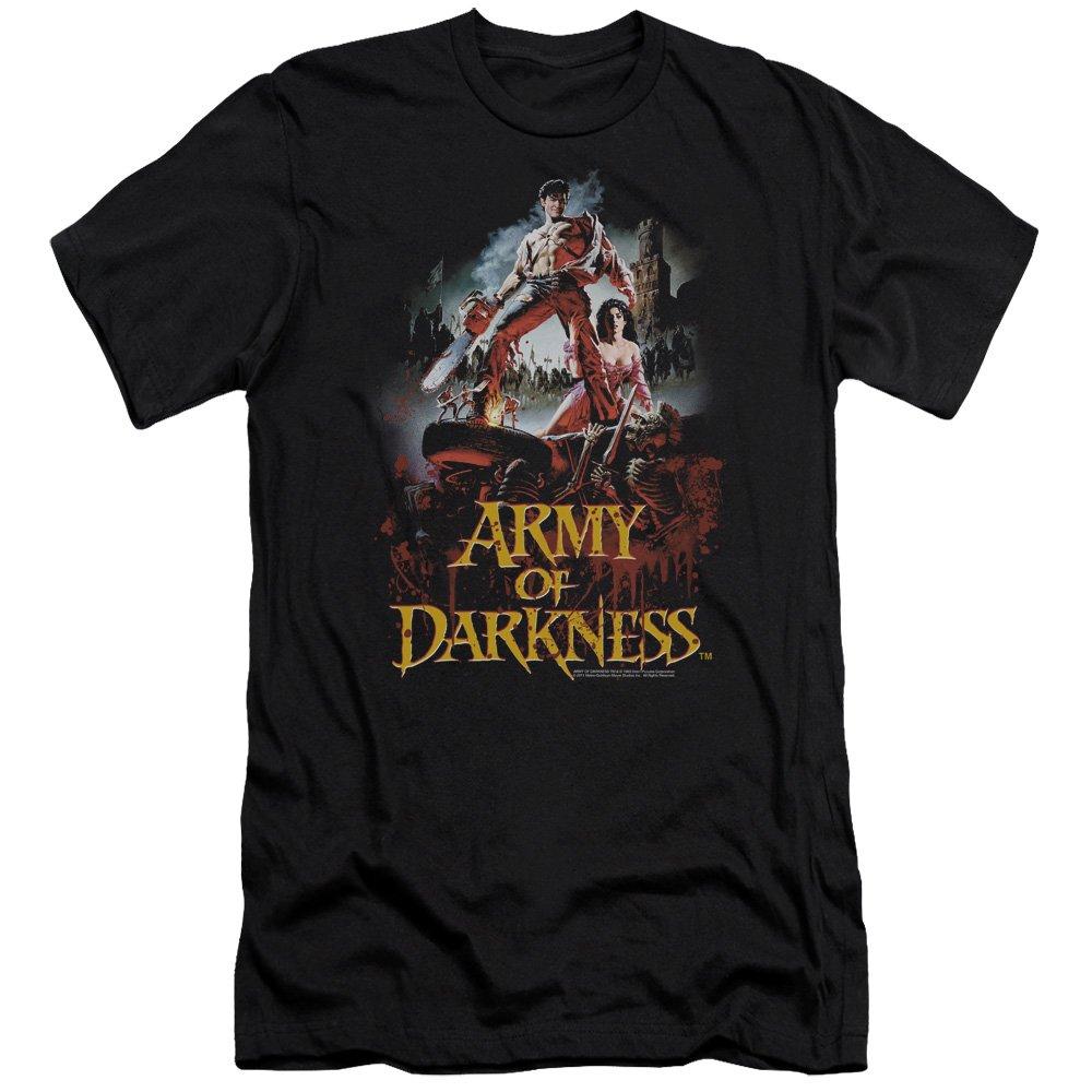 Black Army of Darkness  Mens Bloody Poster Premium Slim Fit TShirt