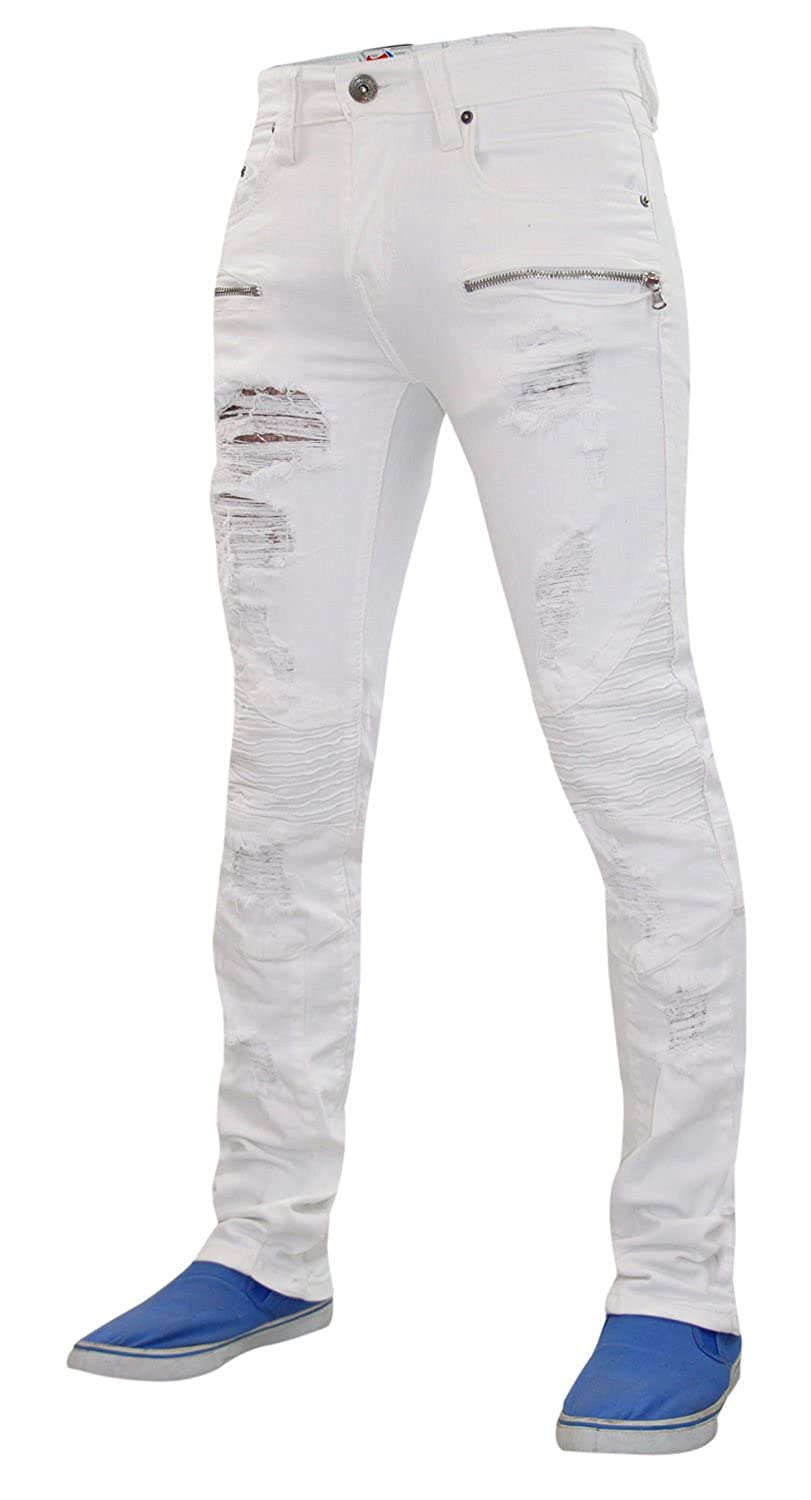 skinny straight rips slim fit King Denim G Mens ripped jeans