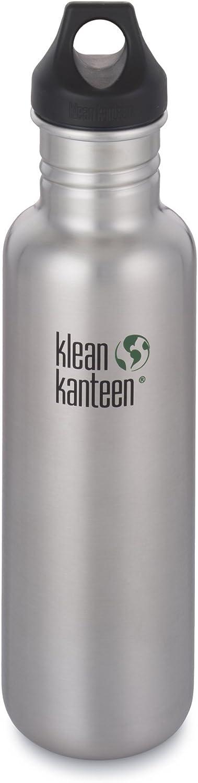 Klean Kanteen Classic Single Wall Stainless Steel Water Bottle with Leak Proof Loop Cap