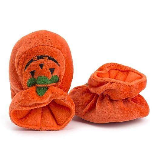 61dd53f255cd6 Amazon.com: ManxiVoo Newborn Baby Halloween Flock Pumpkin Shoes ...