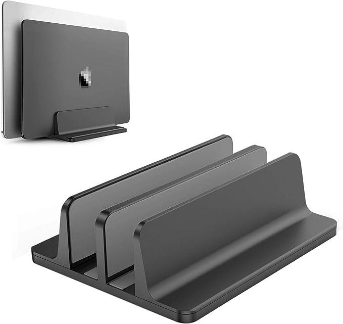 Becrowmeu Vertikaler Laptop Ständer Doppelter Elektronik