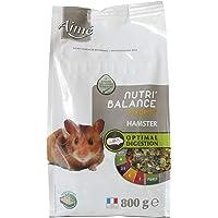 Aime Aliment Complet Hamster, Gerbilles, NUTRI'BALANCE Expert, Repas Mélange Premium varié vitamines et Digestion optimale 800G
