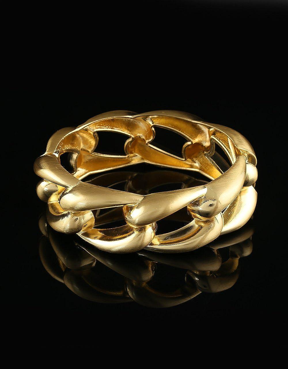 Anuradha Art Gold Finish Beautiful Unique Stylish Hand Bracelet//Kada for Women//Girls