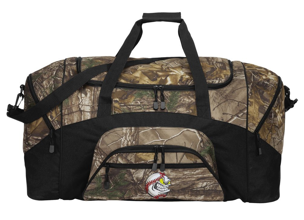 RealTree Camo Baseball Duffel Bag Or Camo Baseball Fan Gym Bag